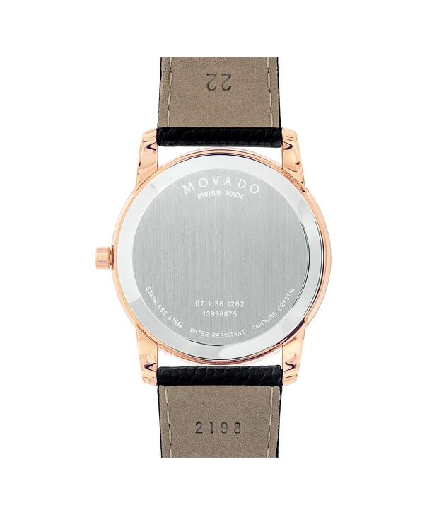 MOVADO Museum Classic0607060 – Men's 40 mm strap watch - Back view